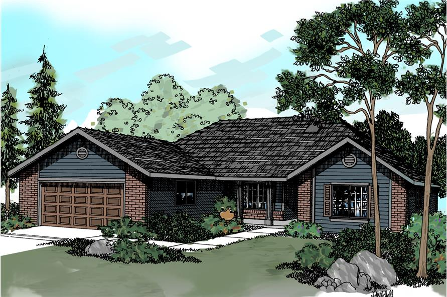 4-Bedroom, 1835 Sq Ft Traditional Home - Plan #108-1181 - Main Exterior