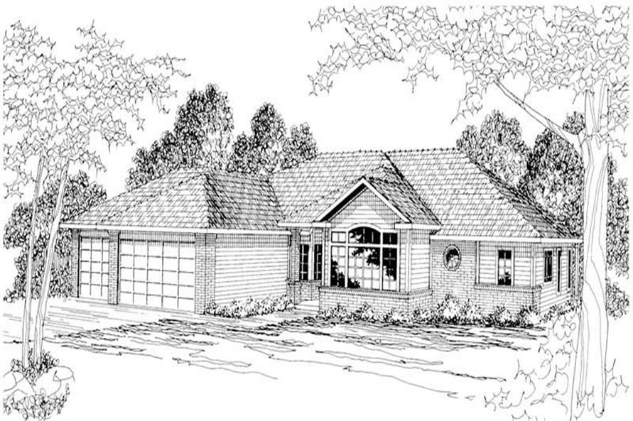 4-Bedroom, 2565 Sq Ft Ranch Home Plan - 108-1182 - Main Exterior