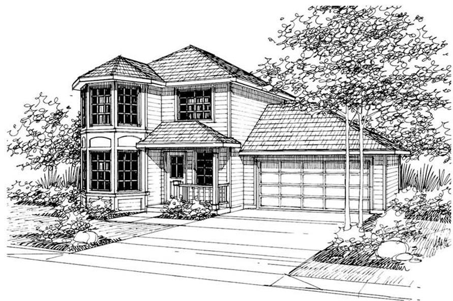 3-Bedroom, 1427 Sq Ft Country House Plan - 108-1183 - Front Exterior