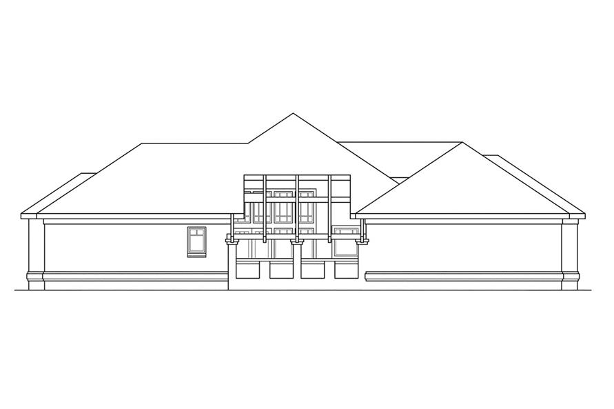 Home Plan Left Elevation of this 3-Bedroom,2684 Sq Ft Plan -108-1185