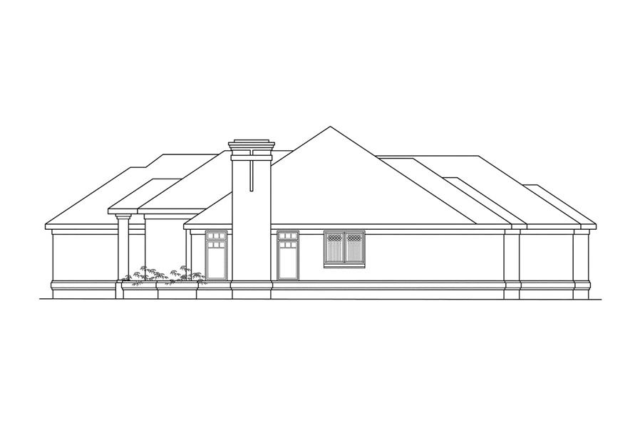 Home Plan Right Elevation of this 3-Bedroom,2684 Sq Ft Plan -108-1185