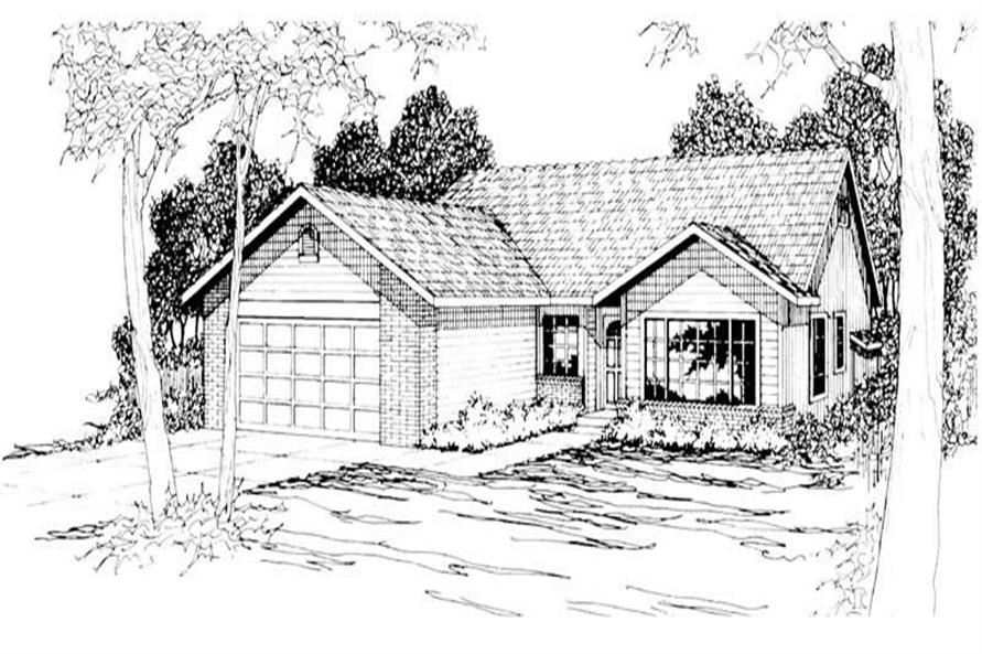 4-Bedroom, 1711 Sq Ft Small House Plans - 108-1188 - Main Exterior