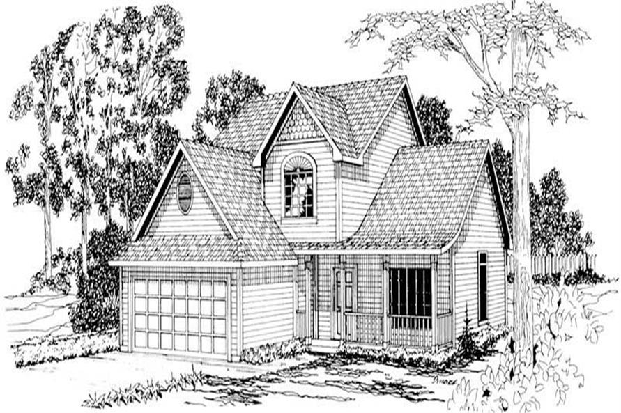 3-Bedroom, 1753 Sq Ft Country Home Plan - 108-1190 - Main Exterior