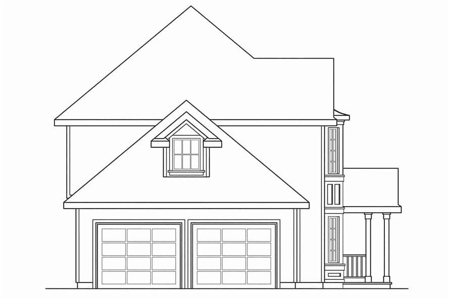 108-1194: Home Plan Left Elevation