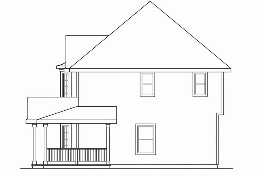 Home Plan Right Elevation of this 3-Bedroom,1766 Sq Ft Plan -108-1194