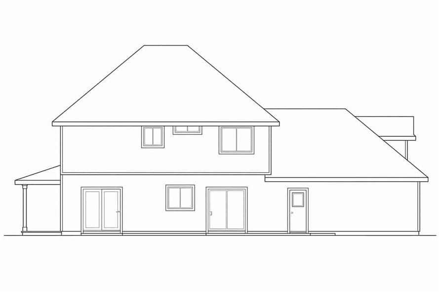 Home Plan Rear Elevation of this 3-Bedroom,1766 Sq Ft Plan -108-1194