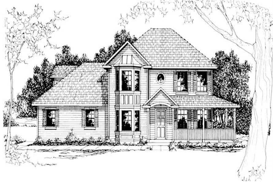 108-1194: Home Plan Rendering-Front View