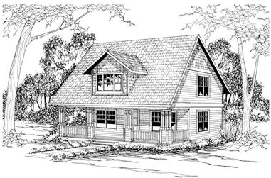 3-Bedroom, 1414 Sq Ft Country Home Plan - 108-1196 - Main Exterior