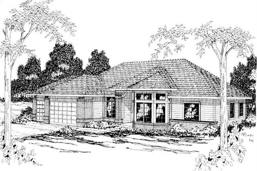 4-Bedroom, 2480 Sq Ft Ranch Home Plan - 108-1198 - Main Exterior