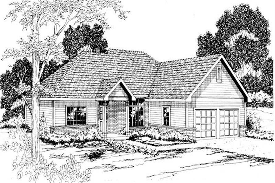 3-Bedroom, 2040 Sq Ft Ranch Home Plan - 108-1199 - Main Exterior