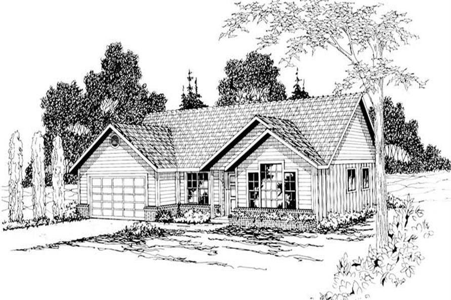 3-Bedroom, 1515 Sq Ft Small House Plans - 108-1200 - Main Exterior