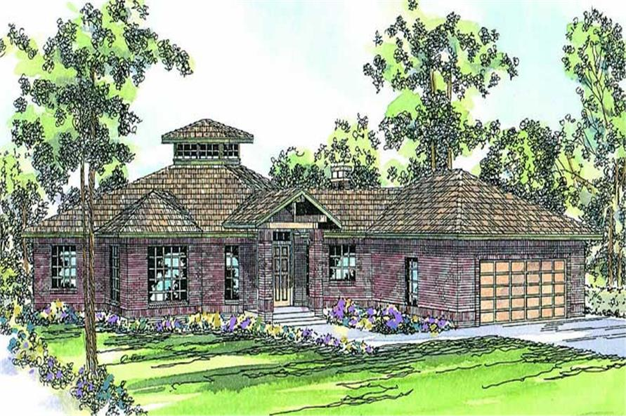 3-Bedroom, 2417 Sq Ft Ranch Home Plan - 108-1201 - Main Exterior