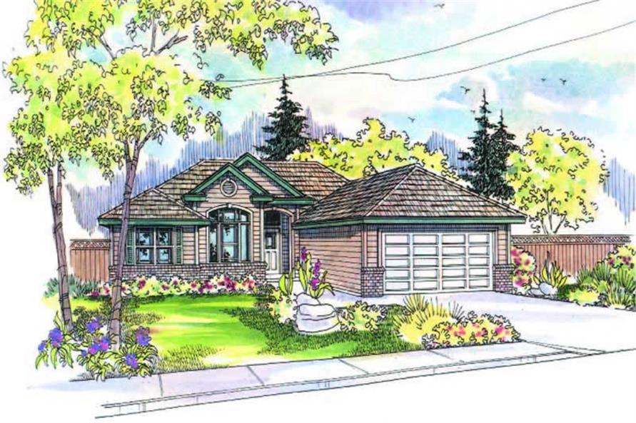 3-Bedroom, 1401 Sq Ft Ranch Home Plan - 108-1203 - Main Exterior