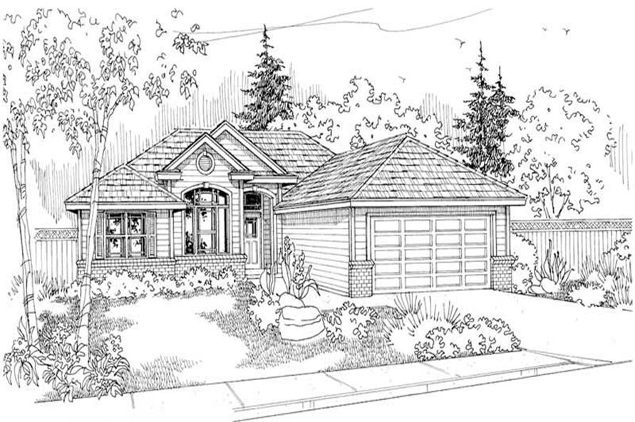 Home Plan Other Image of this 3-Bedroom,1401 Sq Ft Plan -108-1203
