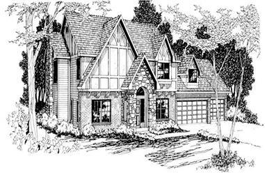 4-Bedroom, 2413 Sq Ft Home Plan - 108-1204 - Main Exterior