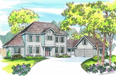 6-Bedroom, 3085 Sq Ft European Home Plan - 108-1205 - Main Exterior