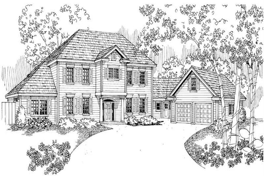 Lansford Main Elevation of this 6-Bedroom,3085 Sq Ft Plan -3085
