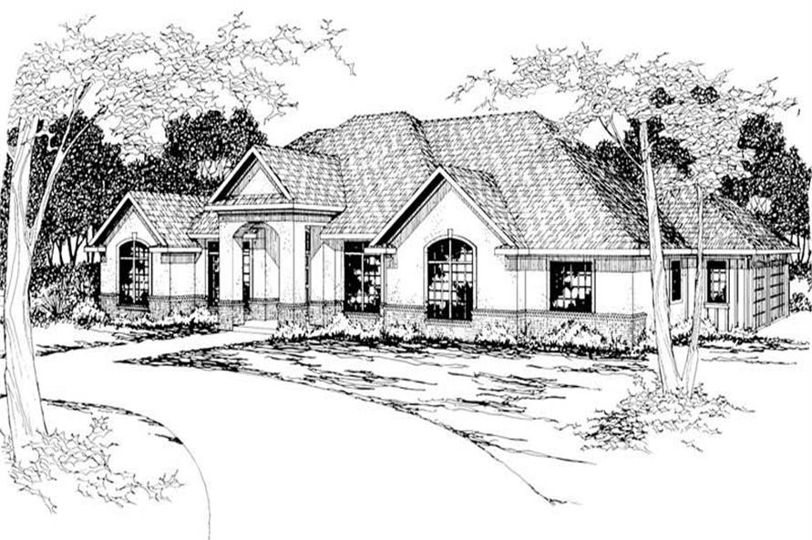 4-Bedroom, 3032 Sq Ft Southern Home Plan - 108-1207 - Main Exterior