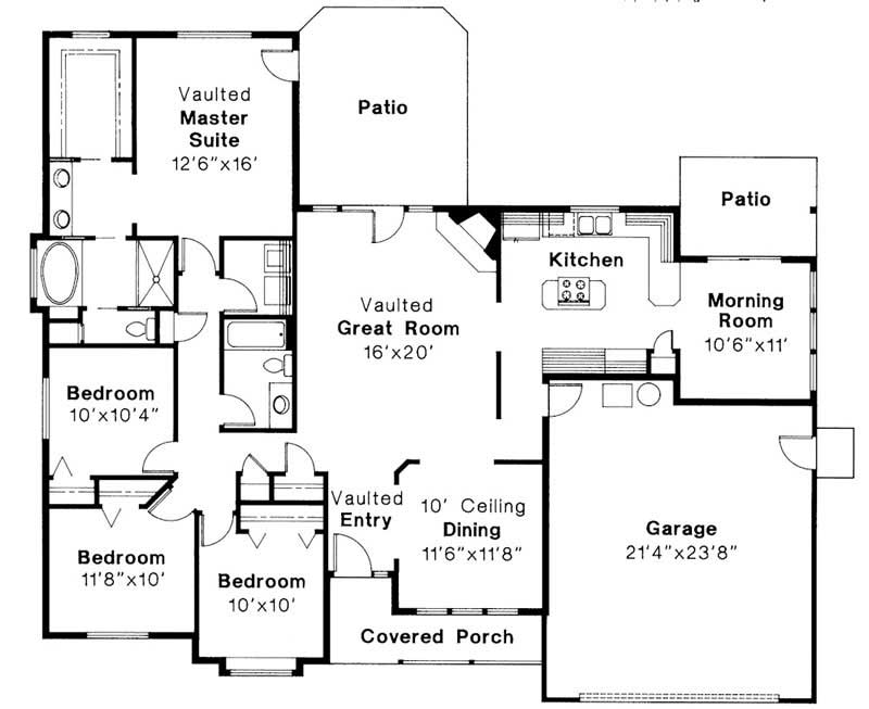 Ranch Transitional Home With 4 Bdrms 1970 Sq Ft Floor