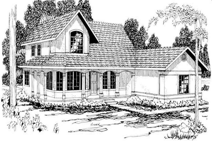 Home Plan Rendering of this 3-Bedroom,2673 Sq Ft Plan -108-1210