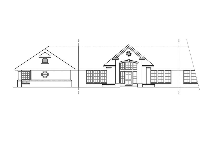 Home Plan Left Elevation of this 3-Bedroom,2878 Sq Ft Plan -108-1212