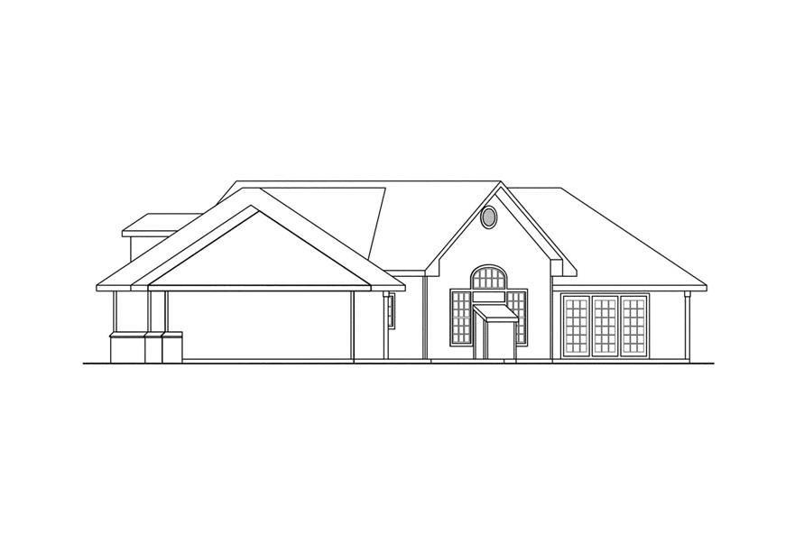 Home Plan Right Elevation of this 3-Bedroom,2878 Sq Ft Plan -108-1212