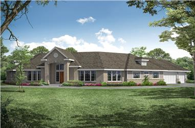 4-Bedroom, 2878 Sq Ft Contemporary Home - Plan #108-1212 - Main Exterior