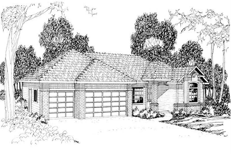 3-Bedroom, 1711 Sq Ft Small House Plans - 108-1214 - Main Exterior