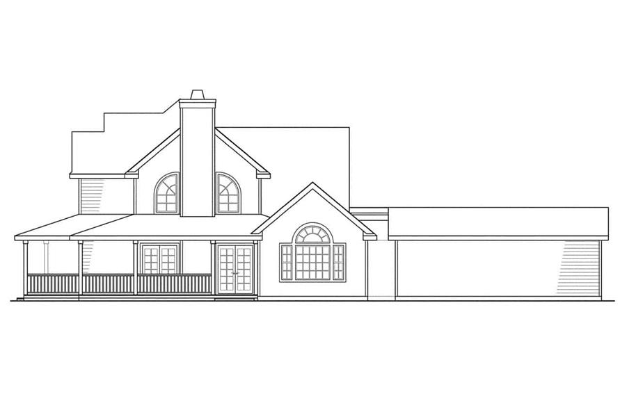 Home Plan Right Elevation of this 3-Bedroom,2156 Sq Ft Plan -108-1215