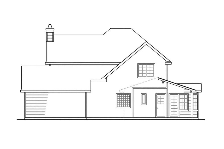 Home Plan Rear Elevation of this 3-Bedroom,2156 Sq Ft Plan -108-1215