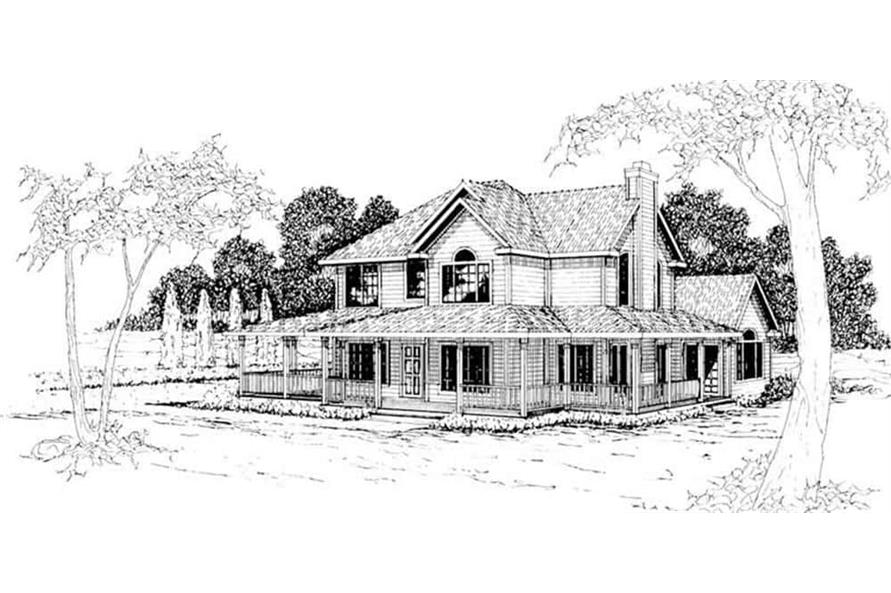 Front View of this 3-Bedroom,2156 Sq Ft Plan -108-1215