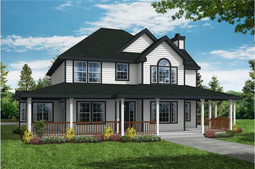 3-Bedroom, 2156 Sq Ft Farmhouse Home - Plan #108-1215 - Main Exterior