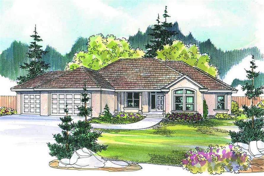 5-Bedroom, 2507 Sq Ft Ranch Home Plan - 108-1219 - Main Exterior