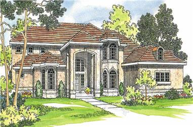 4-Bedroom, 4567 Sq Ft Contemporary Home Plan - 108-1220 - Main Exterior