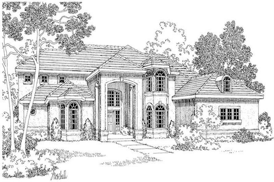 Home Plan Rendering of this 4-Bedroom,4567 Sq Ft Plan -108-1220