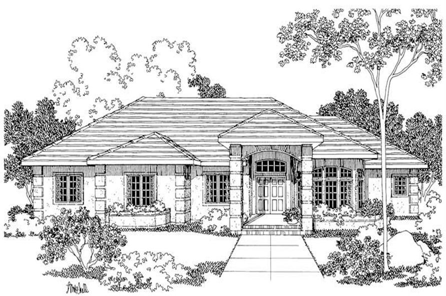 Home Plan Rendering of this 3-Bedroom,2692 Sq Ft Plan -2692