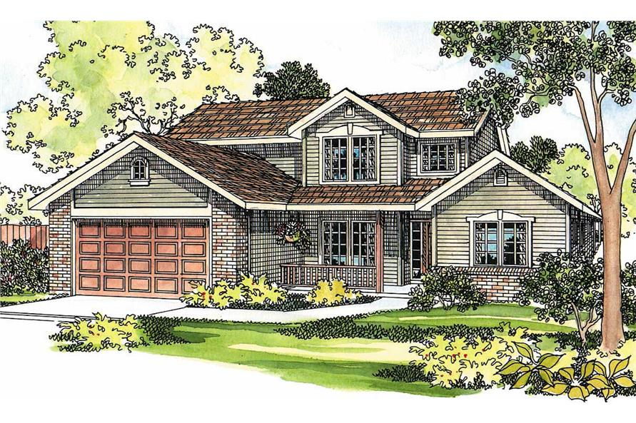 3-Bedroom, 1976 Sq Ft Country Home Plan - 108-1223 - Main Exterior