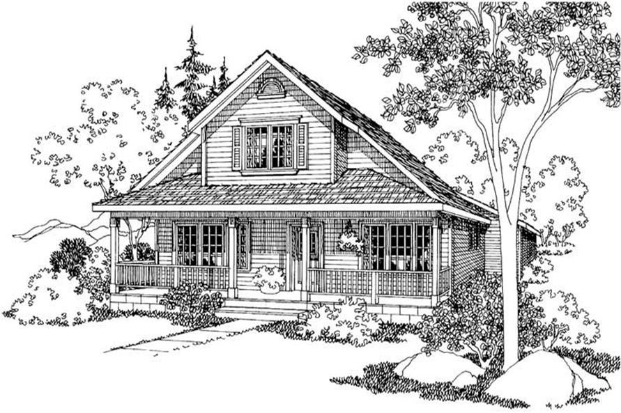 3-Bedroom, 1580 Sq Ft Country Home Plan - 108-1225 - Main Exterior