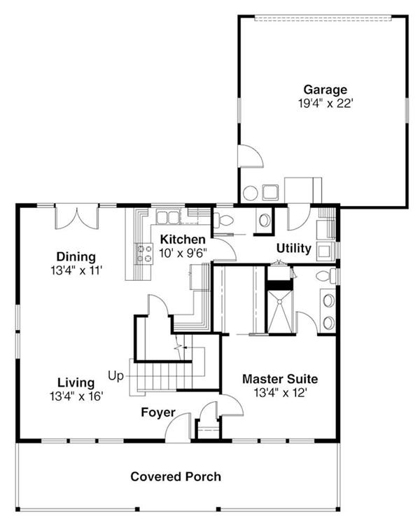 First Floor Floor Plan for Westborough