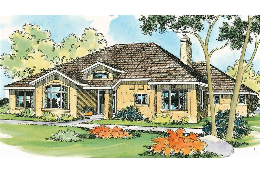 3-Bedroom, 2495 Sq Ft Mediterranean Home Plan - 108-1226 - Main Exterior