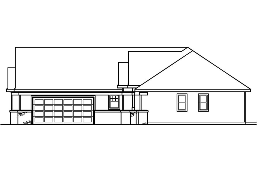 108-1228: Home Plan Right Elevation