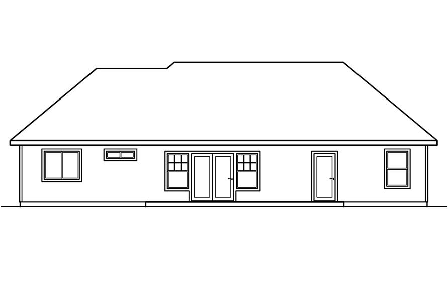 108-1228: Home Plan Rear Elevation