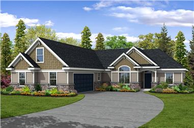 4-Bedroom, 2183 Sq Ft Transitional Home Plan - 108-1228 - Main Exterior