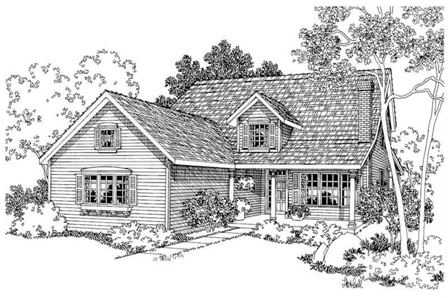 3-Bedroom, 3071 Sq Ft Country Home Plan - 108-1229 - Main Exterior
