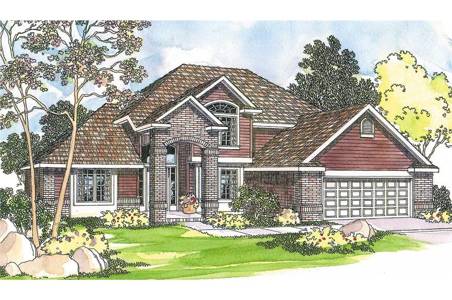 3-Bedroom, 2241 Sq Ft Colonial Home Plan - 108-1230 - Main Exterior