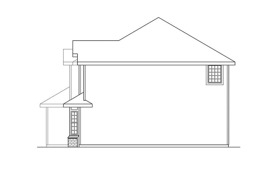 Home Plan Right Elevation of this 4-Bedroom,2346 Sq Ft Plan -108-1232