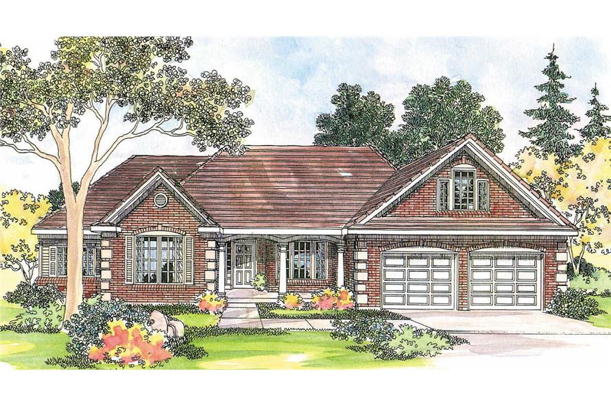 3-Bedroom, 2712 Sq Ft Country Home Plan - 108-1233 - Main Exterior