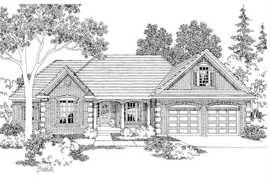 Home Plan Rendering of this 3-Bedroom,2712 Sq Ft Plan -108-1233