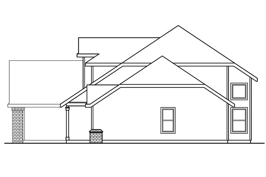 Home Plan Right Elevation of this 4-Bedroom,2193 Sq Ft Plan -108-1234