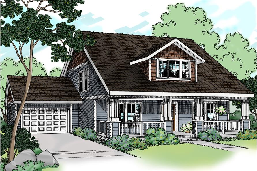 Home Plan Rendering of this 3-Bedroom,1600 Sq Ft Plan -108-1236